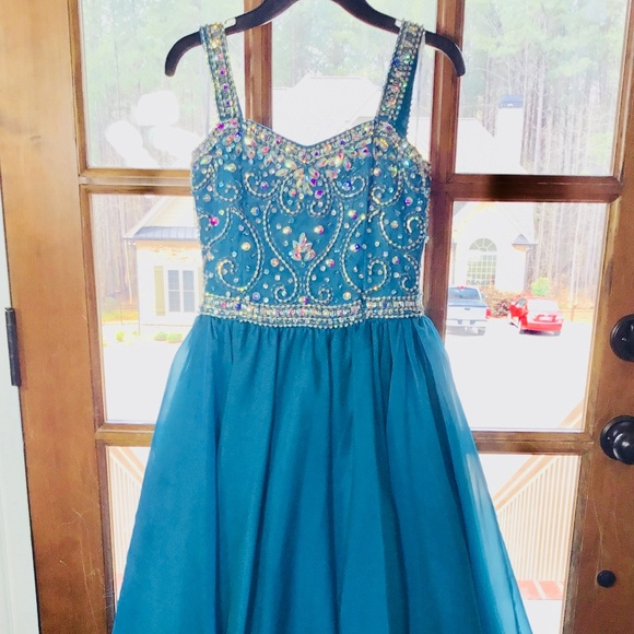 Tiffany Designs Other - Tiffany Princess Teal Gown Size 8
